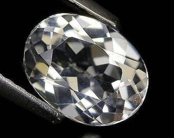 1.66 Ct Natural Brazil White TOPAZ Oval Gemstone
