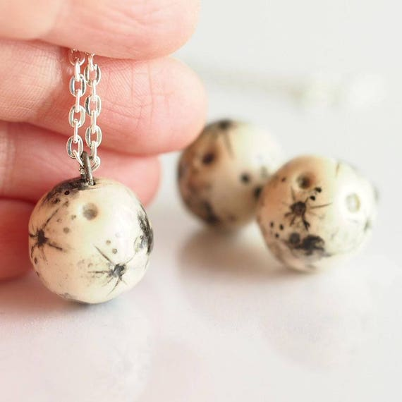 CERAMIC MOONS - Handmade ceramic necklaces