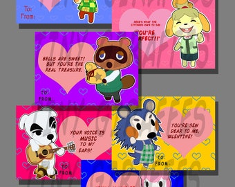 Animal Crossing Valentine Cards