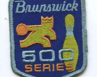 """Brunswick Bowling 500 Series Sew on Patch 2.5"""" x 3"""""""