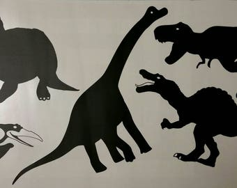 Dinosaur vinyl wall decal, dinosaur wall sticker, wall decal, dinosaur, pterodactyl, t-rex