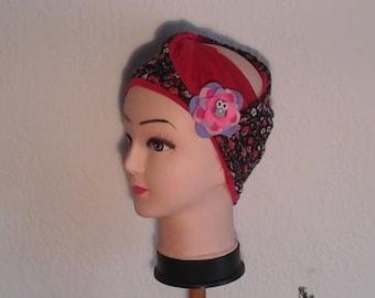 Liberty headscarf headband with its brooch