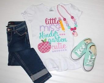 Little Miss Kindergarten Cutie Shirt