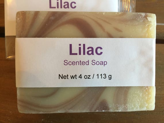 Lilac Scented Cold Process Soap with Shea Butter