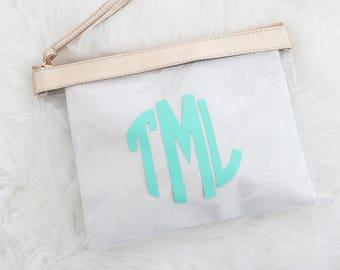 Monogram Clear Stadium Bags - Personalized Bags