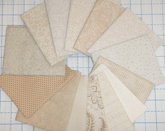 14 Civil War Cream Lights Moda RJR Reproduction Quilt Fabric Fat Quarter Bundle