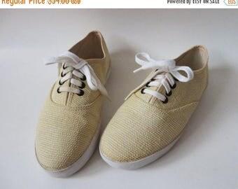 CIJ SALE Platform Sneakers Beige Canvas Sneakers Sports Club Shoes Skechers Ivory Canvas Platform Shoes Keds EUR 37 / Us 6 / Uk 4