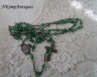 Vintage glass rosary
