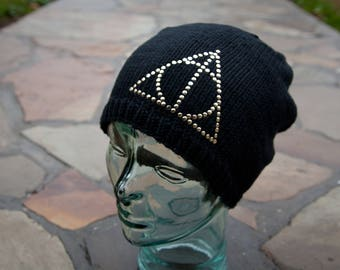 Knit Deathly Hallows Slouchy Beanie