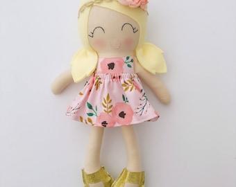 Cloth doll - big sister gift  - lookalike doll - rag doll - girls room decor - heirloom doll - dress up doll - nursery decor - baby gift