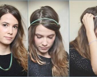 Head chain jewelry bronze simple chain