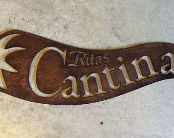 Chili PEPPER CANTINA SIGN with Your Name