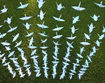 500 cranes-25 strands,set of 20, origami cranes on string, Wedding Backdrop, origami crane backdrop