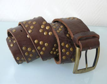 Old Brown unisex leather belt