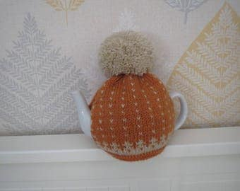 100% wool knitted teacosy