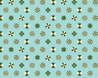 HOLIDAY HOMIES By Tula Pink For Free Spirit Fabrics Peppermint Stars Pine Fresh