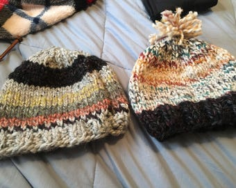 Winter hats 25 percent wool so super warm but nit etchy