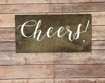 Cheers! Wooden sign