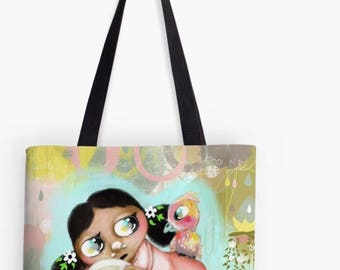 Bag - Fabric Handbag - Tote Bag - HyssopArts - Artwork Designed by Beatrice Ajayi