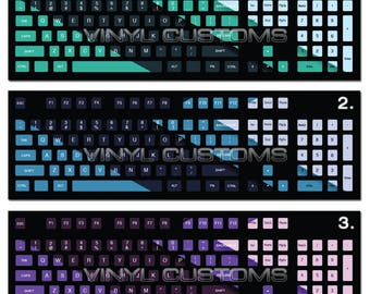 PC Keyboard Stickers for Mechanical Keyboard Keycaps Large Letters (Style C13-C15)