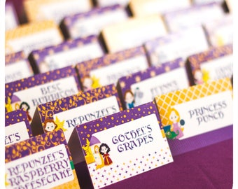 Tangled party; Tangled Birthday Party; Tangled Food Labels; Rapunzel Party; Tangled Party Decor; Party decor; Tangled; Tangled Birthday