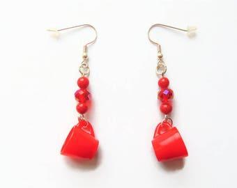 SALE Teacup earrings, tea cup earrings, tea cup jewellery, tea earrings, tea jewellery, tea party, tea lover gift, gift for her,