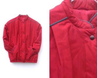 Red BOMBER Jacket - Small
