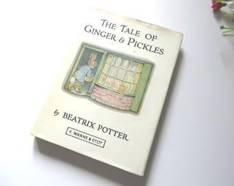 Beatrix Potter 1960's vintage  book ,The Tale of Ginger and Pickles, Beatrix Potter story, Children's stories,Nursery keepsake