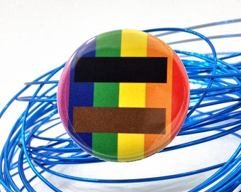 gay poc pride flag pin | inclusive equality pride pin