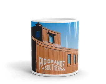 Mug - Red Silo Original Art - Rio Grande Southern Caboose Train Car