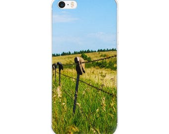 iPhone 5/5s/Se, 6/6s, 6/6s Plus Case - Red Silo Original Art - Boot Fence H