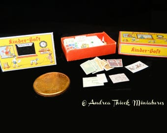 Vintage German Miniature Post Office Game 1 - Artisan Handmade Miniature 1:12 scale