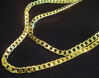 MIRROR SHINE Men's Set of 2 Gold Plated Chains by my DAD Father's Day Gift #331