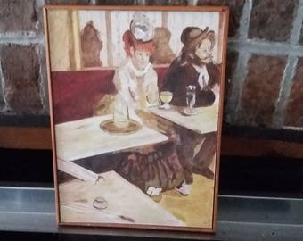 Oil Copy c1985 of Edgar Degas L'Absinthe Painting Picture