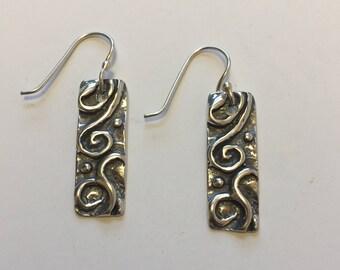 Everyday Sterling Silver Art Deco  Earrings