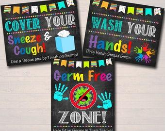 Health Room Office Posters, School Health Posters, Nurse, INSTANT DOWNLOAD,  Health Room