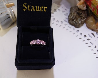 Stauer, Sterling Silver and Pink Sapphire Ring, with the Original Box