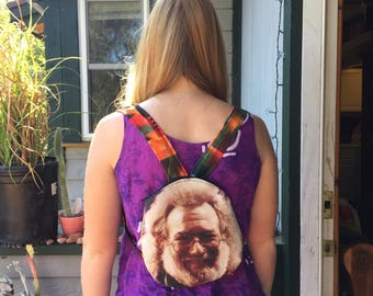 Grateful Dead Jerry Garcia Face Backpack