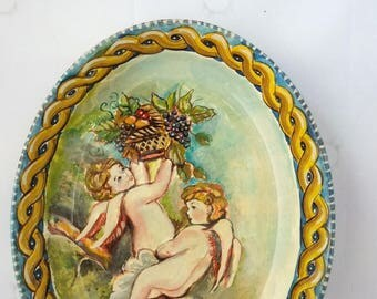 Angels dish painted
