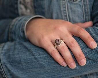 Purple Geode Ring