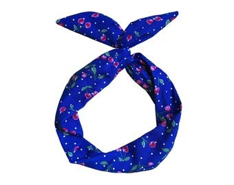 Cherry Print Wire Headband by Byrd