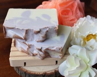 Lavender vanilla soap, cold process soap, palm oil free, vegan friendly, lavender soap, vanilla soap, coconut oil, olive oil