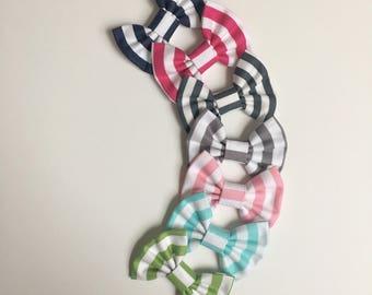 Stripes hair bows, hair accessories, baby accessories, toddler hair accessories, baby shower gift for a girl, newborn