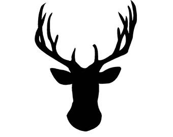 Deer SVG and PNG Digital Download - deer graphic - digital download deer vector silhouette