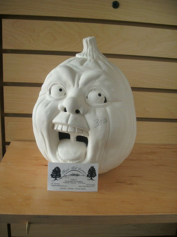 Ready to paint ceramic pumpkin diy halloween unpainted for Diy ceramic painting
