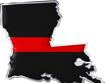 15% OFF SALE Thin Red Line Decal Lousiana State SKU: D1155