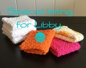 Custom listing for Libby - crochet dishcloths - 2 pks (3 each)