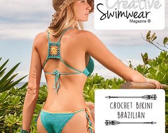 PATTERN Bikini Crochet and knitting - Pattern crochet bikini - Bikini lace knitting tutorial