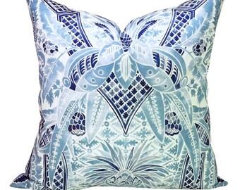 Cap Ferrat pillow cover in Pacific