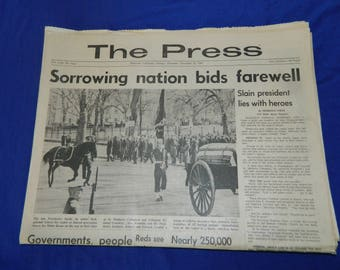 Kennedy Assassination 11 - 25 - 63 The Press Riverside Newspaper
